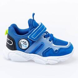 Jump - Jump 26182 Royal Mavi - Neon Yeşil - Siyah Uniseks Çocuk Spor Ayakkabı