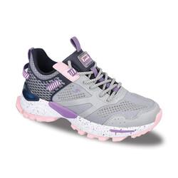 Jump - Jump 26241 Açık Gri - Lacivert - Lila - Pembe Kadın Spor Ayakkabı