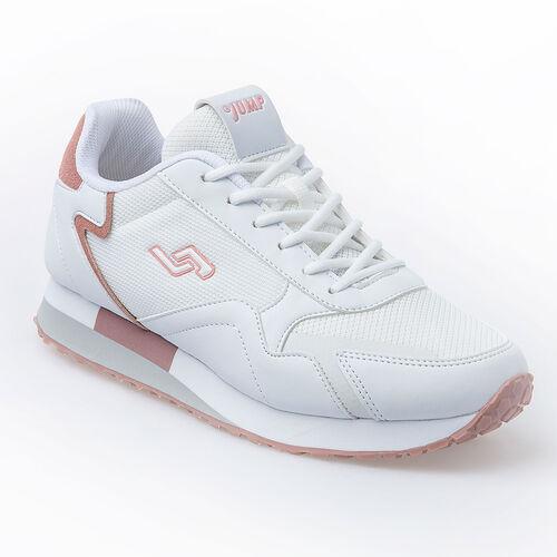 Jump 26252 Beyaz - Fuşya - Gül Rengi Kadın Spor Ayakkabı