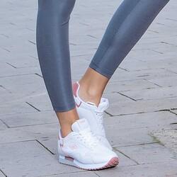 Jump 26252 Beyaz - Fuşya - Gül Rengi Kadın Spor Ayakkabı - Thumbnail
