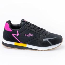 Jump - Jump 26252 Siyah - Fuşya - Sarı Kadın Spor Ayakkabı