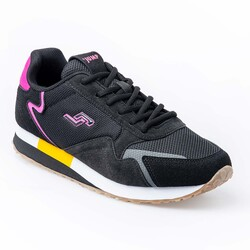 Jump - Jump 26252 Siyah - Fuşya - Sarı Kadın Spor Ayakkabı (1)
