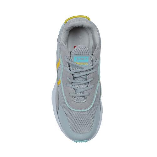 Jump 26254 Açık Gri - Mint Yeşil - Neon Sarı - Lacivert Kadın Spor Ayakkabı