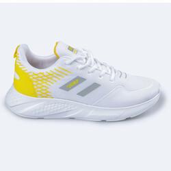 Jump - Jump 26263 Beyaz - Açık Sarı Kadın Spor Ayakkabı