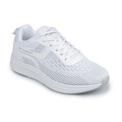 Jump - Jump 26280 Beyaz - Açık Gri Kadın Spor Ayakkabı (1)