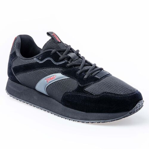 Jump 26384 Siyah - Koyu Gri - Bordo Erkek Spor Ayakkabı