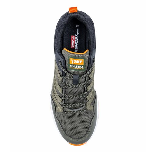 Jump 26486 Haki - Siyah - Turuncu Erkek Spor Ayakkabı