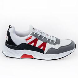 Jump - Jump 26497 Beyaz - Gri - Kırmızı - Siyah Erkek Spor Ayakkabı