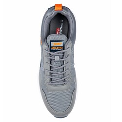 Jump 26497 Gri - Lacivert - Turuncu Erkek Spor Ayakkabı - Thumbnail